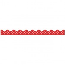 18 פסי קישוט אדום נקודות