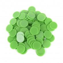 """20 דסקיות קוטר 2.5 ס""""מ צבע ירוק"""