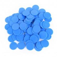 """20 דסקיות קוטר 2.5 ס""""מ צבע כחול"""