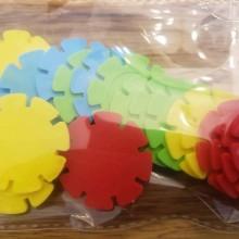 20 דסקיות פרחים צבע מעורב