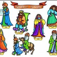 פלקט המחשה פורים דמויות מהמגילה