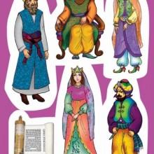 18 מגזרות פורים - דמויות מהמגילה