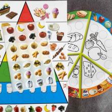 ערכת יצירה בנושא בריאות - פרמידת המזון +צלחת מזון בריא