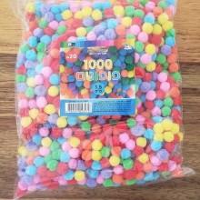 1000 פונפונים צבעים שונים