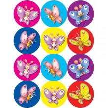 חבילת מדבקות פרפרים קומיקס