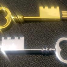 דיסק און קי בצורת מפתח צבע כסף