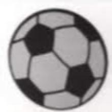 מדבקת גירוד כדורגל - 4 יחידות