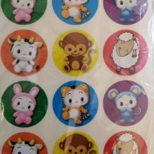חבילת מדבקות חיות צעצוע חמודות