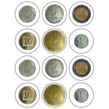 חבילת מדבקות מטבע ישראלי
