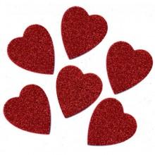 לבבות מסול אדום נוצץ