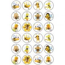חבילת מדבקות דבורים