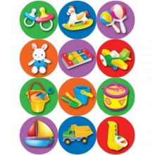 חבילת מדבקות צעצועים