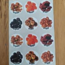 דף מדבקות פירות יבשים
