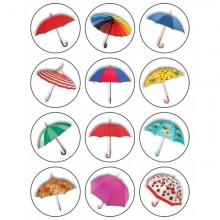 חבילת מדבקות מטריות