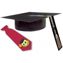 כובע סטודנט חלק+עניבה