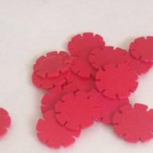 דסקיות פרחים צבע אדום