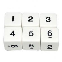 """1.6 ס""""מ קוביית ספרות 1-6"""