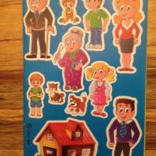 המשפחה שלי - חבילת מדבקות
