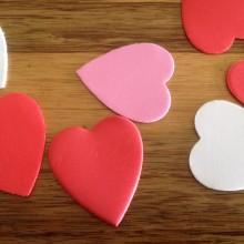 לבבות מסול מעורב- לבן ורוד אדום