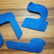 אותיות סול גדולות לכותרות - כחול נוצץ
