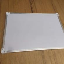 לוח מגנטי לבן מסגרת כסף