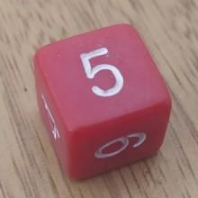 קוביית מספרים 1-6 אדום