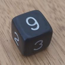 קוביית מספרים 1-6 שחור