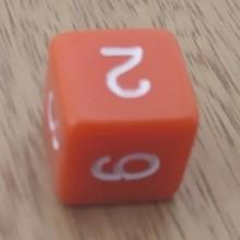 קוביית מספרים 1-6 כתום