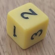 קוביית מספרים 1-6 צהוב