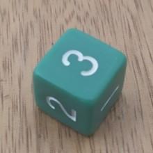 קוביית מספרים 1-6 ירוק