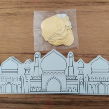 36 יצירות - פורים ארמון המלך מתקפל לתלת מימד עם כיפות זהב