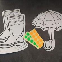 מגפיים ומטרייה לצביעה וליצירה