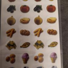 חבילת מדבקות פירמידת המזון
