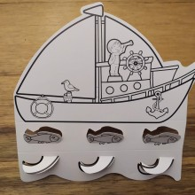 36 יצירות סירות תלת מימד לצביעה