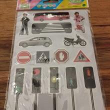 חבילת מדבקות זהירות בדרכים