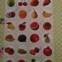 דף מדבקות פירות בינוני