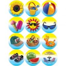 חבילת מדבקות סמלי קיץ