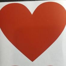 מדבקות גירוד לב אדום קטן