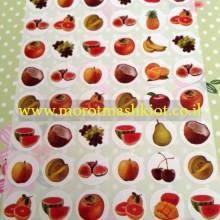 דף מדבקות פירות קטן
