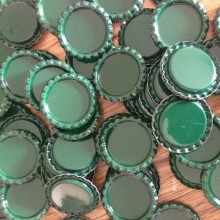 10 פקקים צבע ירוק כהה