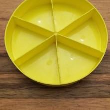 מגש חלוקה עגול צבע צהוב