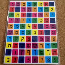 חבילת מדבקות אותיות בצבעים דפוס