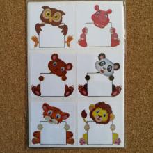 חבילת מדבקות חיות עם שלט