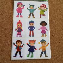 חבילת מדבקות ילדים בחורף