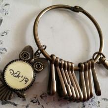 מחזיק מפתחות טבעת- ינשוף