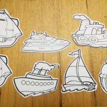 סירות לצביעה ויצירה