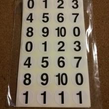 חבילת מדבקות מספרים שחור
