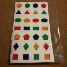 חבילת מדבקות צורות גאומטריות
