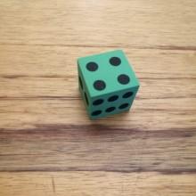 קוביית משחק מסול ירוק