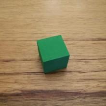 """קובייה """"אילמת"""" מסול צבע ירוק"""